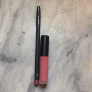Mac cosmetics lipglass and liner used